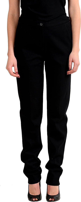 Maison Martin Margiela  4  Women's Black Flat Front Pants US 6 IT 42