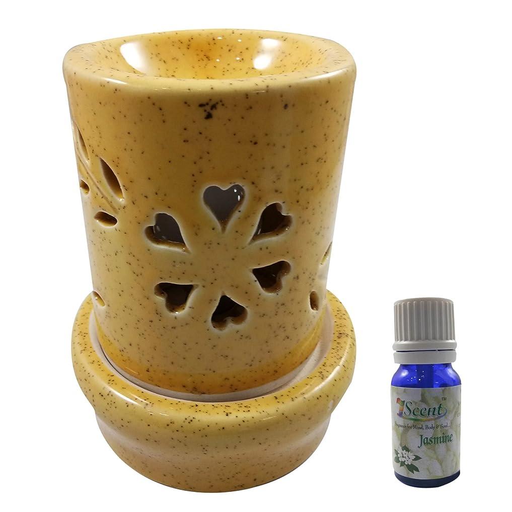 無臭アーサーコナンドイル出来事家庭装飾定期的に使用する汚染されていない手作りセラミックエスニック電気アロマディフューザーオイルバーナージャスミンフレグランスオイル|良質ブラウン色電気アロマテラピー香油暖かい数量1