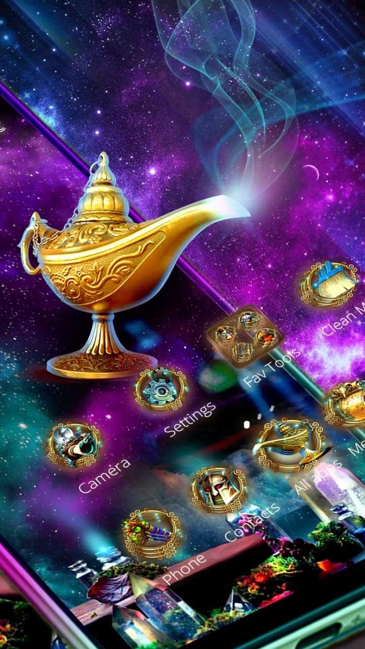 3D Magical Genie Lamp Parallax Theme