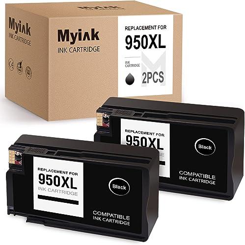 popular MYIK Compatible Ink Cartridge Replacement for HP 950 XL 950XL Work for 251dw 276dw 271dw OfficeJet Pro 8600 online 8610 8620 8100 8615 lowest 8625 8630 8640 8660 (2 Black) online