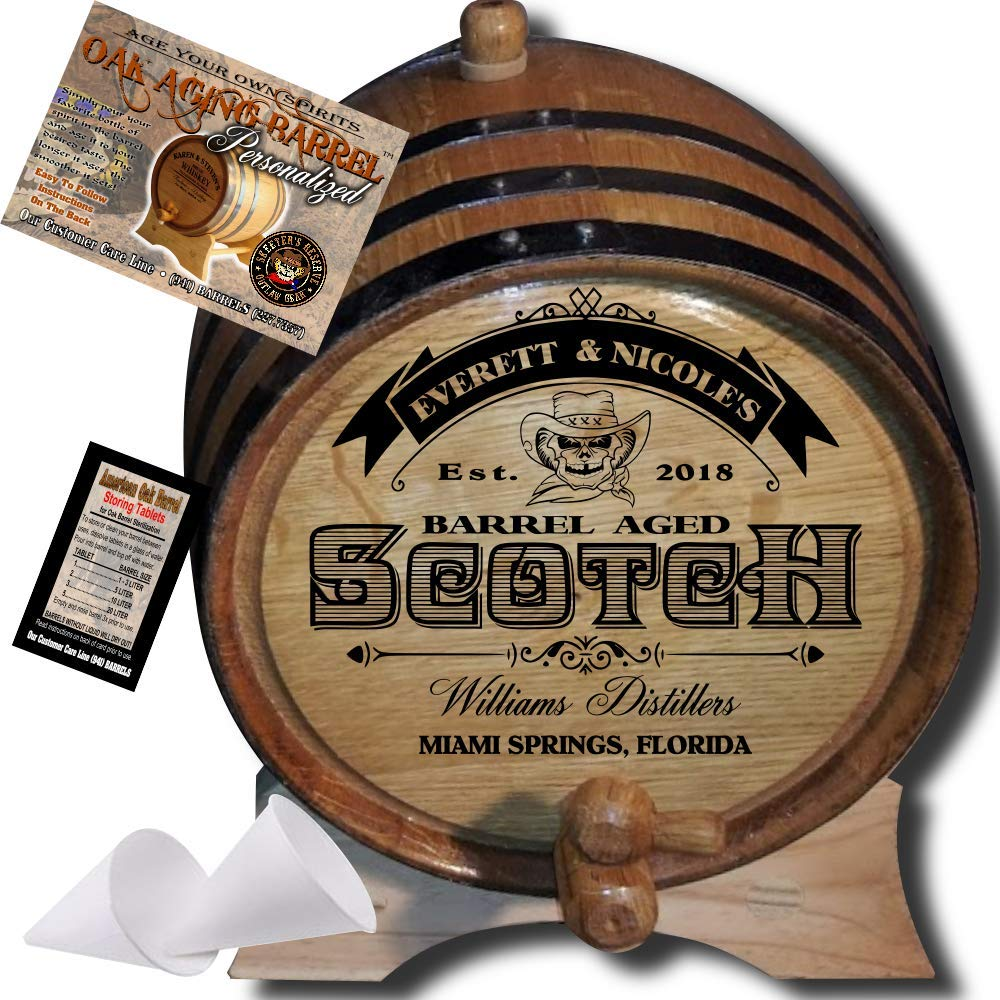 Personalized American Oak Scotch Barrel