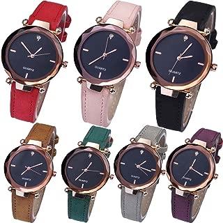 Yunanwa Women's Watches Relojes Mujer Dress Ladies Business Butterfly Quartz Leather Wrist Watch Feminino Montre Femme Wholesale Pack