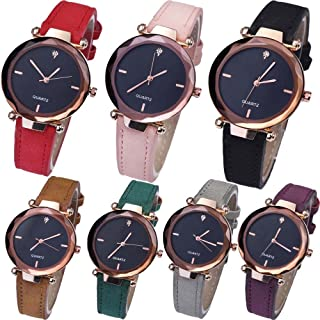 Yunanwa Women's Watches Relojes Mujer Dress Ladies Business Butterfly Quartz Leather Wrist Watch Feminino Montre Femme Wholesale Pack