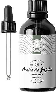 comprar comparacion 100ml Aceite de Jojoba Orgánico, Prensado en frío, Puro - Cuidado 100% Natural para la Piel, Cabello, Barba - Botella de c...