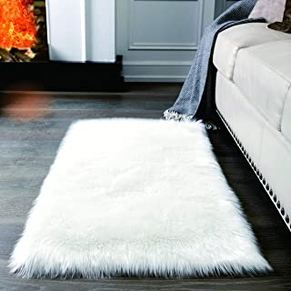 big fuzzy white rug