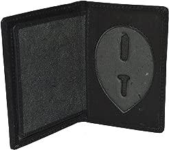 LeatherBoss Police Shield Shape Badge Holder Bifold Wallet