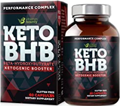 Keto BHB Exogenous Ketone Supplement - Beta Hydroxybutyrate Ketone Salt Pills - 60 Capsules