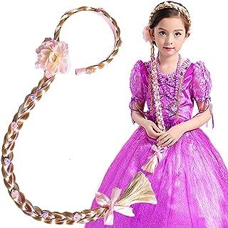 Vndaxau Girl's Princess Wig Braided,Kid's Rapunzel Hair Dress up Hairpiece