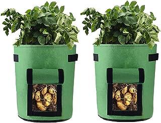 Vasi per piante con ribaltina Manici Fioriera Grow Bags 3 pezzi Piantare patate pomodori Pomodori Grow Borse da giardino per ortaggi 7 Galloni