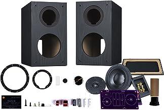 HiVi - DIY 2.2A – 2-Way Bookshelf Speaker Kit - Braced Wooden Cabinet - Pair – Black – 2-Year Warranty - SwansKits