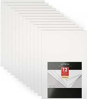 Arteza Tableros de cartón pluma de doble cara | Color blanco | Tamaño 50,8 X 76,2 X 0,5 cm | Cartón de espuma ligera para presentaciones, proyectos de arte y enseñanza | Paquete de 12