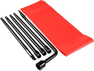 Red Hound Auto 1998-2011 Compatible with Ford Ranger Spare Lug Wrench Ext Tire Tool Replacement Kit with Case