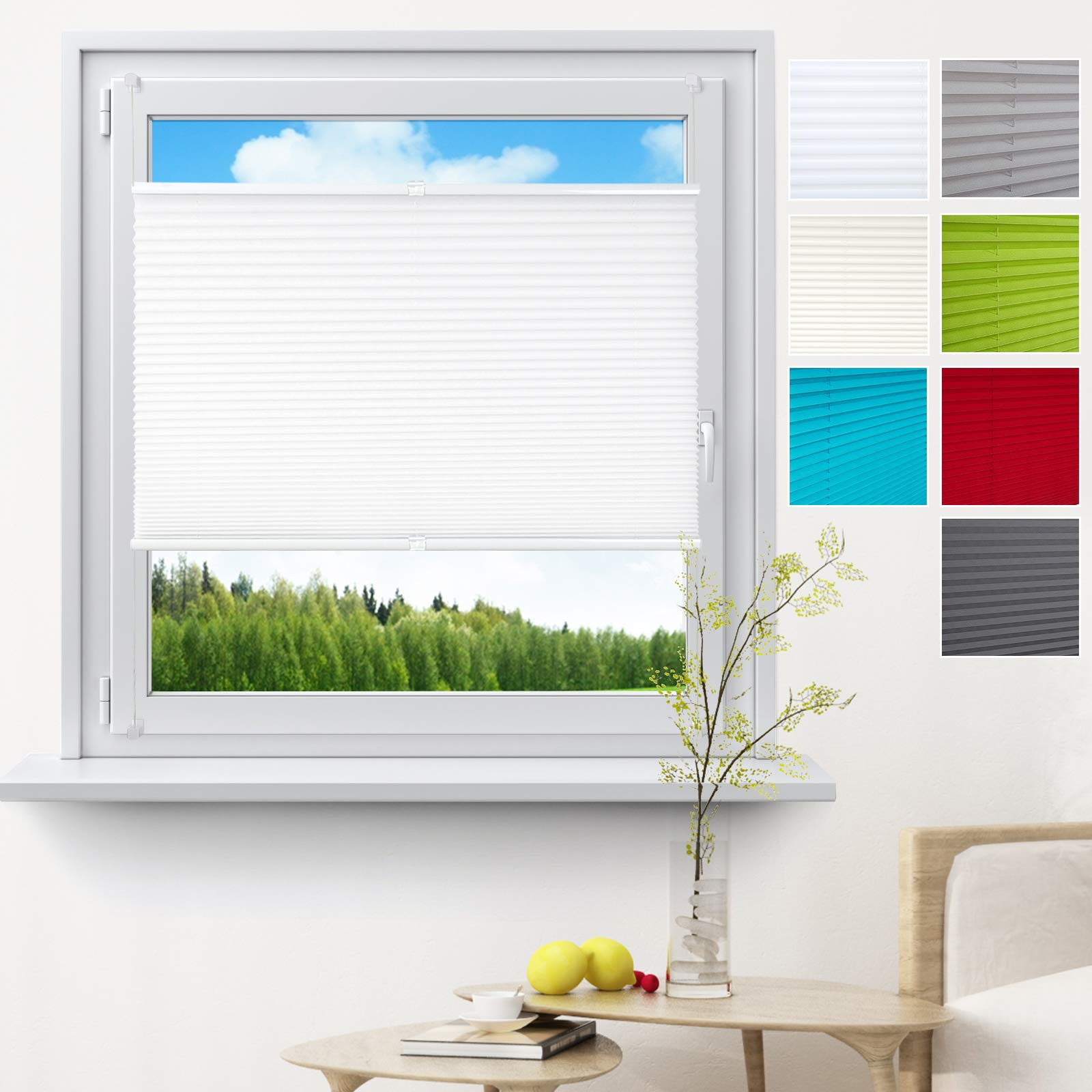 WOLTU Pleated Blinds Polyester No