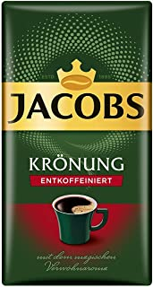 Jacobs Kronung Entkoffeiniert Decaf Ground Coffee 500 Gram / 17.6 Ounce (Pack of 1)