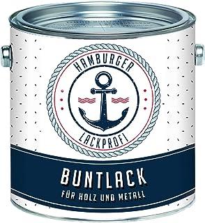 Buntlack GLÄNZEND für Holz und Metall Taubenblau RAL 5014 Blau Metalllack Metallfarbe Holzlack Holzfarbe // Hamburger Lack-Profi 2,5 L