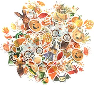 1000Art Nature Autumn Stickers Set(120 PCS) Watercolor Pumpkin Halloween and Fall Leaves Stickers for Card Making, Journals,Planners,Scrapbooking,DIY Arts and Crafts