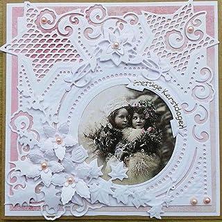 xmelug Étoile Cadre Rond en Métal Modèle en Métal Moule en Relief Modèle Scrapbooking Die-Cut DIY Album Photo Invitation E...