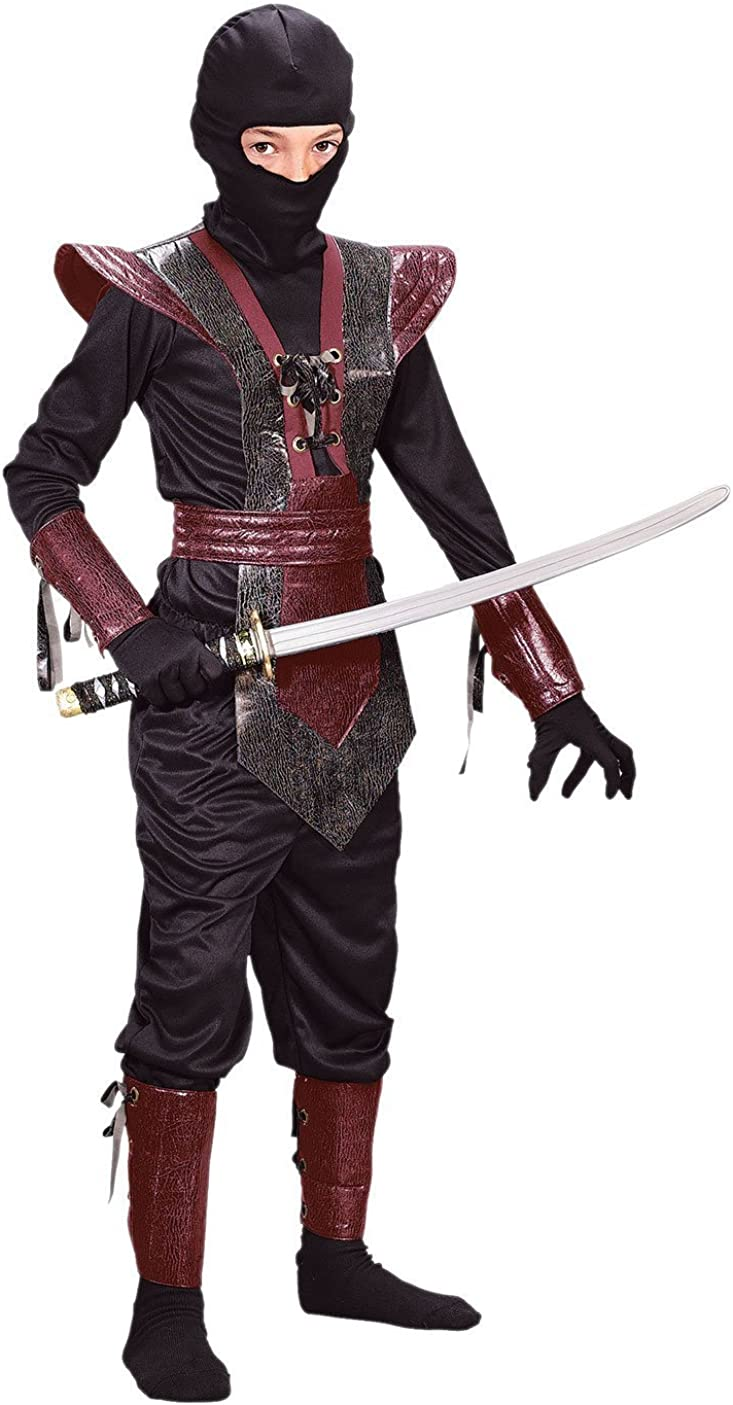 6 Details about  /NINJA FIGHTER COSTUME BY FUN WORLD BOY SMALL FREE FAST SHIPPING RED NINJA
