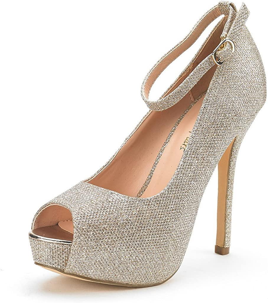 DREAM PAIRS Women's Swan-10 Courier shipping free shipping High Heel Bargain Plaform Pump Shoes Dress