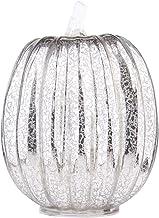 UKCOCO Halloween Glas Pompoen Lantaarn- Halloween Decoratie Licht Pompoen Lantaarn/Batterij Aangedreven Glas Pompoen Fee L...