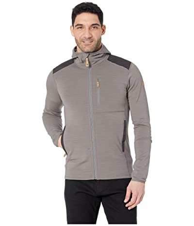 Fjallraven Keb Fleece Hoodie (Grey/Dark Grey) Men