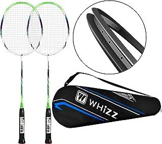 QICHUAN Whizz 2 Player Carbon Shaft Badminton Racquet Set for Adults/Junior/Children, Badminton Bag & 2 Racket Grip Included