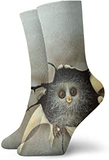 Calcetines deportivos unisex con diseño de búho para costura, 30 cm