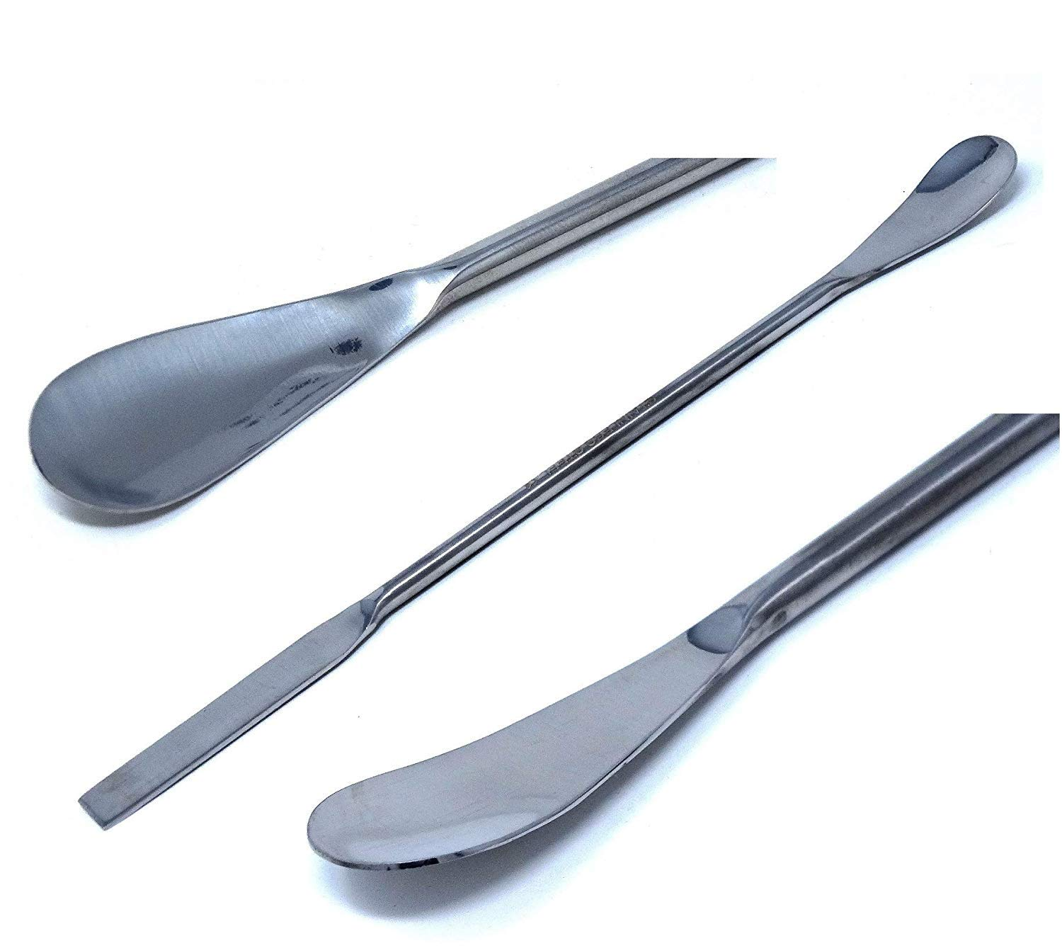 NEW before selling A2Z-SQSP4-7 Stainless Steel Double Ended Sampl Lab Micro Spatula Now free shipping