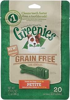 Greenies Canine Grain Free Dental Chews Petite Treats for Dogs, 12 Ounce