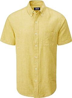Charles Wilson Camisa Lino Manga Corta para Hombre