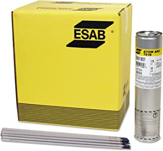 Esab Welding 255015323 Stick Electrode - Atom ARC 7018 Welding Wires, 1/8 Dia, 14 Long, 10 lb. Can (Pack of 10)