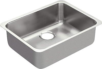 Moen G18195 1800 Series 18-Gauge Single Bowl Undermount Sink, Stainless Steel