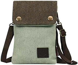 Canvas Small Cute Crossbody Cell Phone Purse Wallet Bag with Shoulder Strap