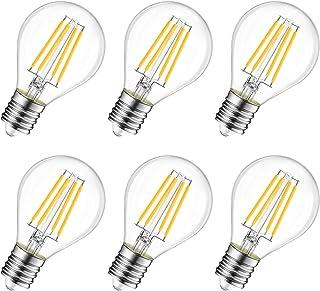 LED電球 フィラメント E17口金 60W形相当 806lm クリア電球 6W シャンデリア電球 2700K 電球色 G45ミニ電球 エジソン電球 PSE 3年保証 6個入 調光器非対応