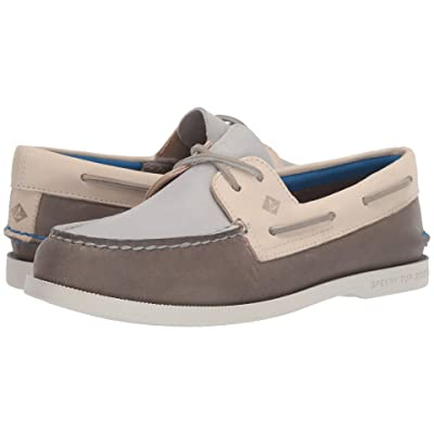 Sperry Authentic Original Plush Tri-Tone (Grey/Ivory) Women