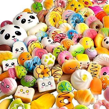 Yunko 30個セット ストレス解消グッズ スクイーズ おもちゃ 減圧グッズ 低反発 触感いい 無害 可愛い 柔らかい ふわふわ玩具 食物おもちゃ 面白い 誕生日 子供の日 プレゼント スギフト 子供 大人