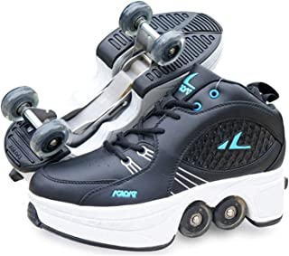 Roller Skates for Kids/Women,Shoes with Wheels for Girls,Kick Rollers Shoes Skates Retractable Adult,Skating Shoes for Boy...