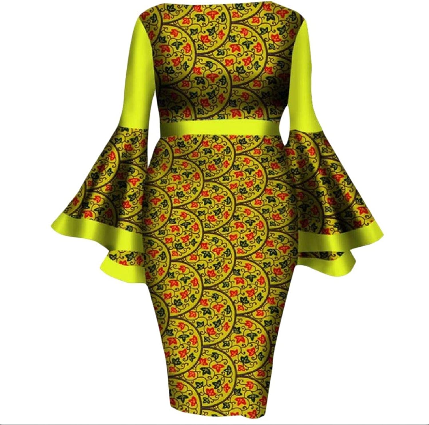 Cheelot Women's Party Plus Size African Print Dashiki Sexy Pencil Dress