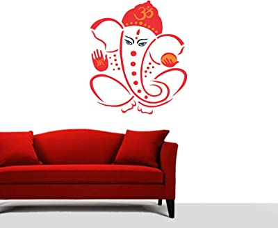 Sticker Yard Decoration Wall Stickers| Wall Sticker for Living Room -Bedroom - Office - Kids Room - Hall - Home Décor| Ganesha Design Wall Sticker & Decal Vinyl Sticker