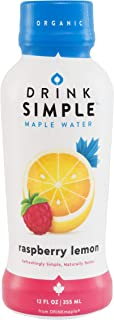 Drink Simple Raspberry Lemon Maple Water – Organic, Non-GMO, Gluten Free, Vegan Natural Hydration – Low Sugar Coconut Wate...