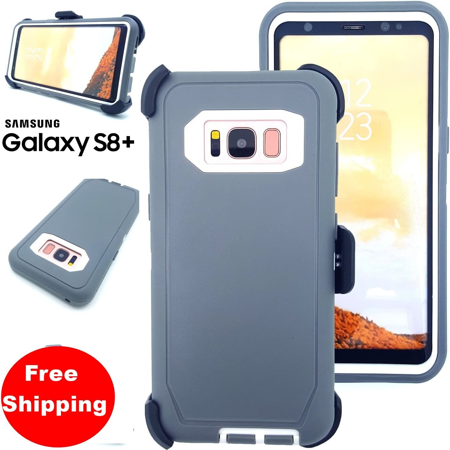Dual Layered Rugged Shockproof Heavy Duty Mexican Flag Case w//Kickstand Cover Compatible with Samsung Galaxy S8 Plus G955