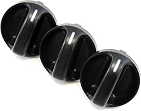 Set of 3 - Compatible with Toyota Tundra Truck 2000-2006 Control Knobs Dials Heater AC or Fan Replacement Full Air Conditioner