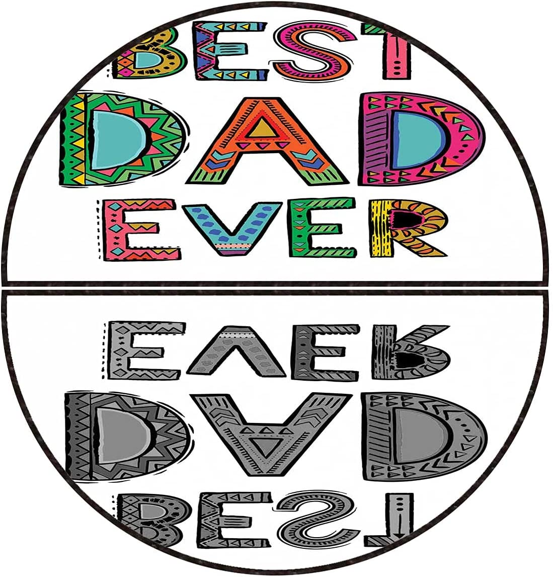 Half Round Doormat Fathers Day New life Best Id Mat Entryway Set 5 popular Ever Dad