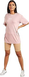Honey Slogan Printed Oversized Fit T-shirt For Women's Purple Closet by Styli
