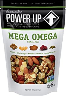 Power Up Trail Mix, Mega Omega Trail Mix, Non-GMO, Vegan, Gluten Free, No Artificial Ingredients, Gourmet Nut, 14 oz Bag, ...