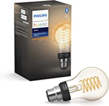 Philips Hue White Filament Single Smart LED Bulb B22 Bayonet Cap with Bluetooth