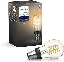 Philips Hue White Filament Single Smart LED Bulb B22 Bayonet Cap with Bluetooth