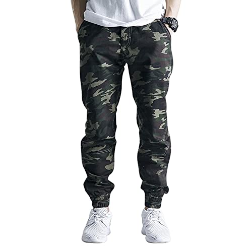 a4ca80e65e OCHENTA Men's Casual Twill Drawstring Jogger, Slim Fit Tapered Chino Pants
