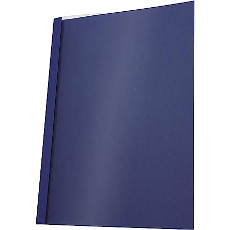 Pavo Pack de 25 Couvertures de reliure thermique standard 6 mm Bleu