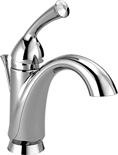 Delta Faucet Haywood Single-Handle Bathroom Faucet with Diamond Seal Technology and Drain Assembly, Chrome 15999-DST